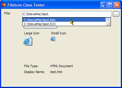 File Icons Demonstration