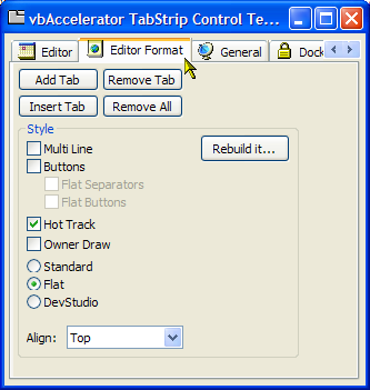 strip vb Tab