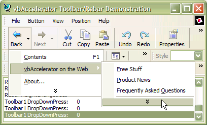 vbAccelerator Toolbar and CoolMenu Control v3.5