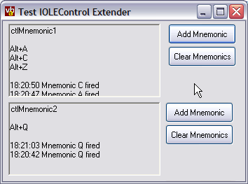 IOLEControl Mnemonic Demonstration