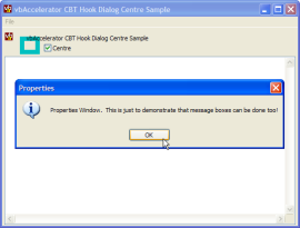 Dialog Centring Application Demonstration