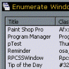 Click for Enumerating Windows Using the API