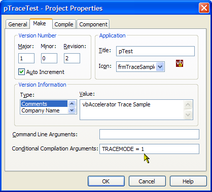 Setting the Conditional Compilation flags
