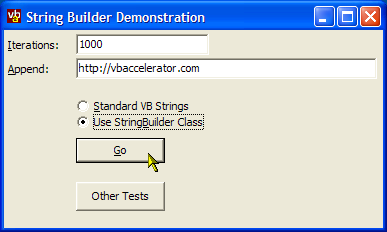 StringBuilder Test Project
