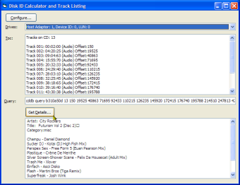 CD Track Listing Sample Application