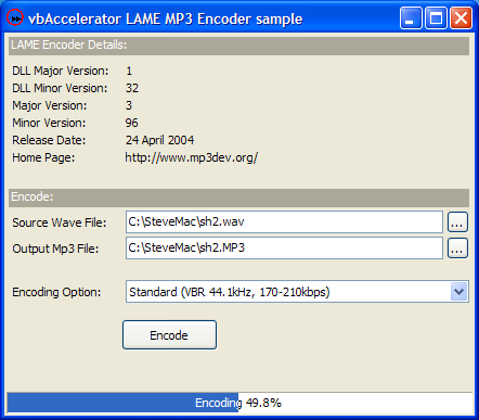 vbAccelerator - MP3 Encoding with LAME