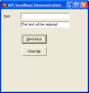 vbAccelerator - SendKeys using the API