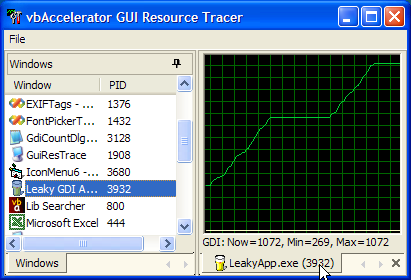 GUI Resource Tracer Application