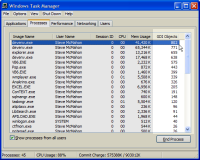 Task Manager Showing GDI Objects
